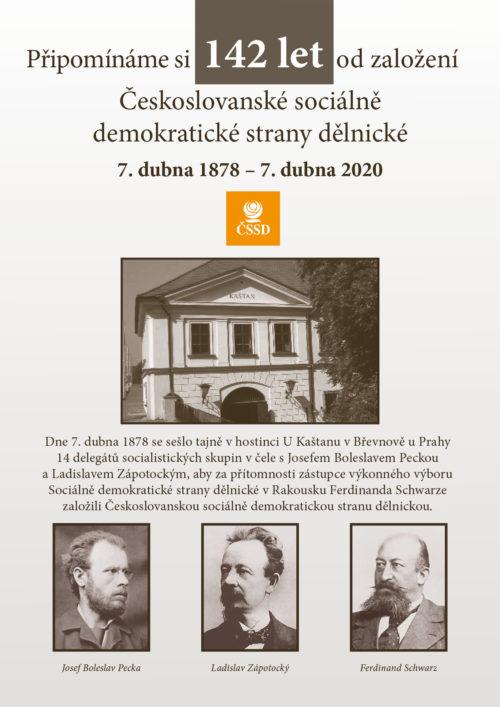 Připomínáme si 142 let od založení Českoslovanské sociálně demokratické strany dělnické